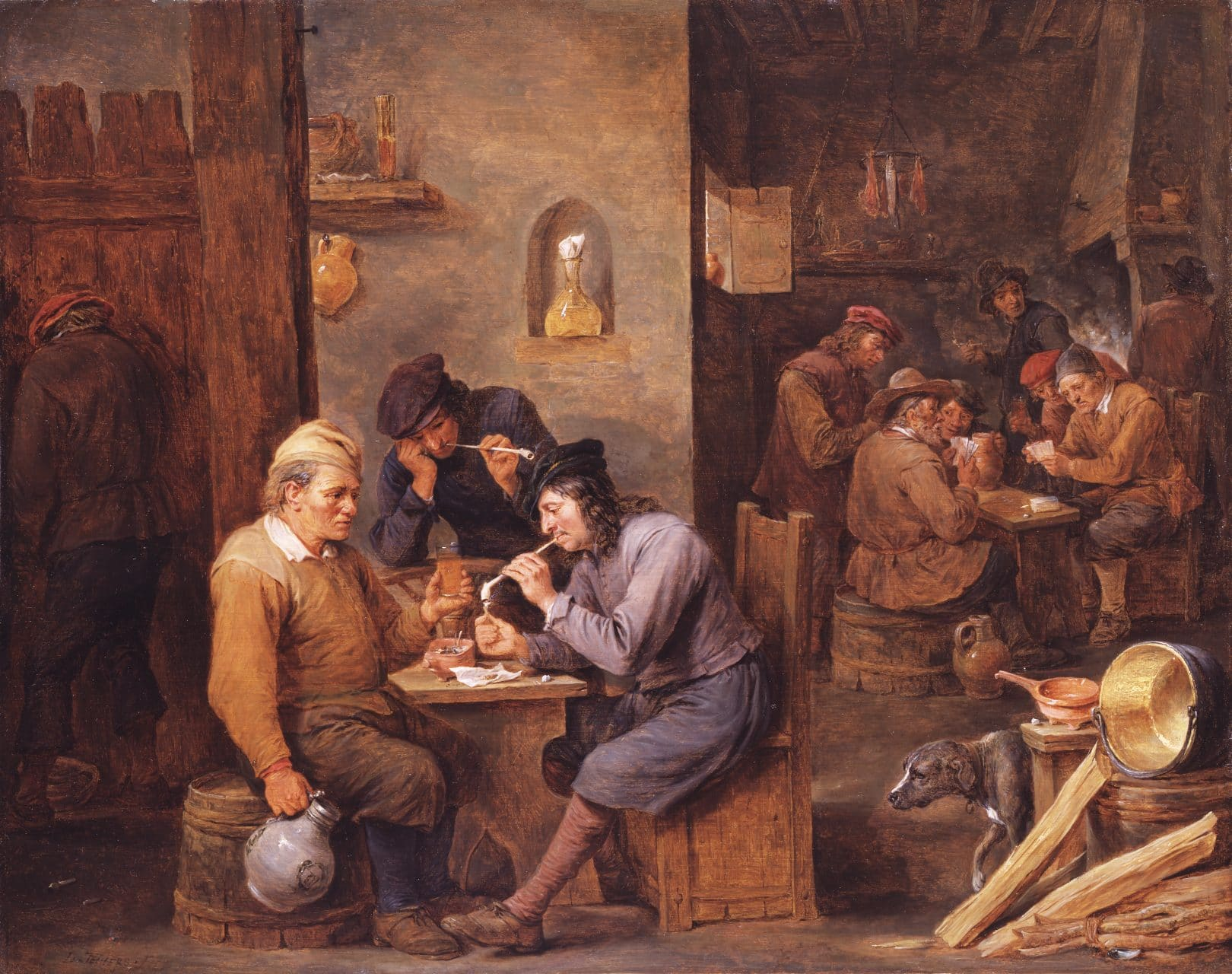 David Teniers the Younger, Smokers in a Tavern, ca. 1660.