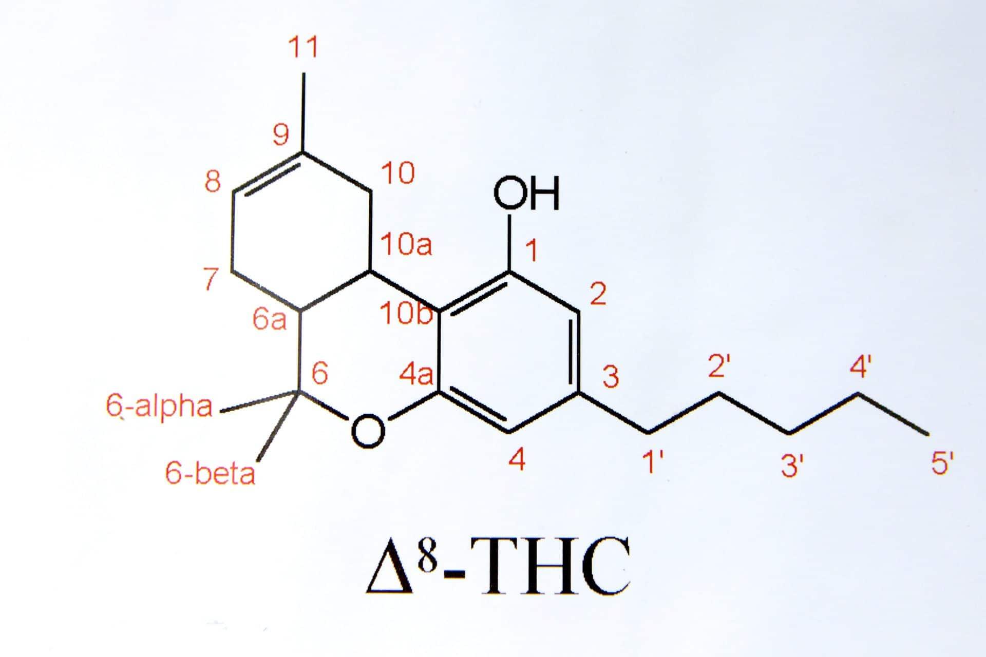 THC molecular structure.