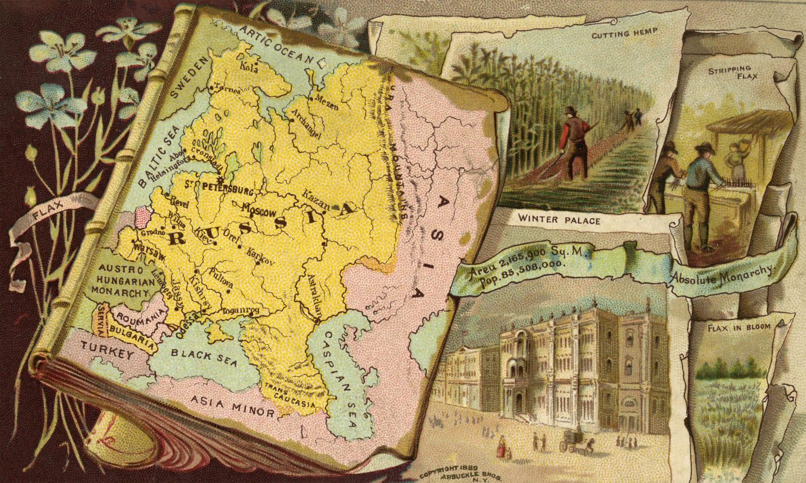Arbuckle's Coffee postcard, 1889.