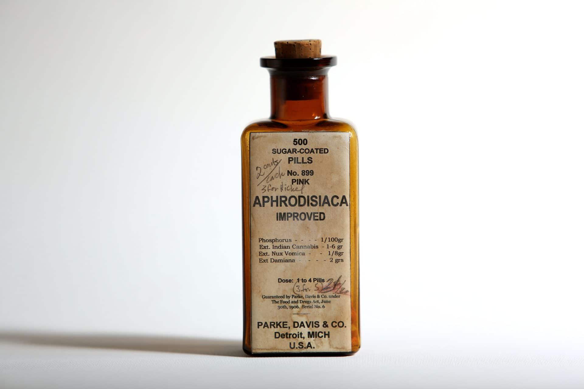 Medicine bottle, USA, early 20th century.